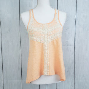 Anthropologie Taylor & Sage Peach Lace Tank Top